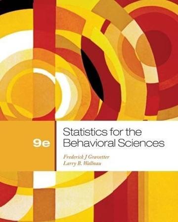 Resim Statistics For The Behavioral Sciences 9e