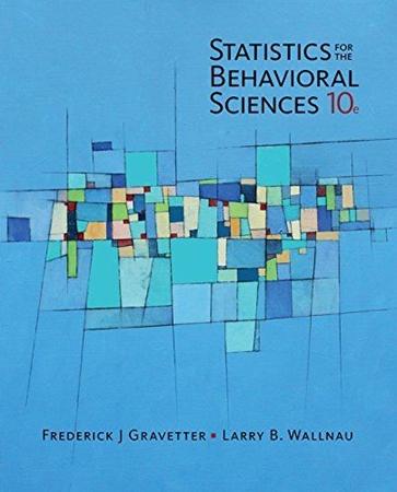 Resim Statistics for The Behavioral Sciences 10e