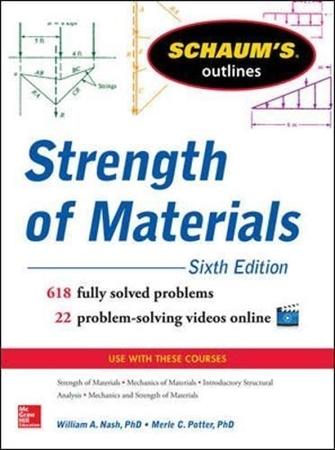Resim Schaum's Outline of Strength of Materials 6e