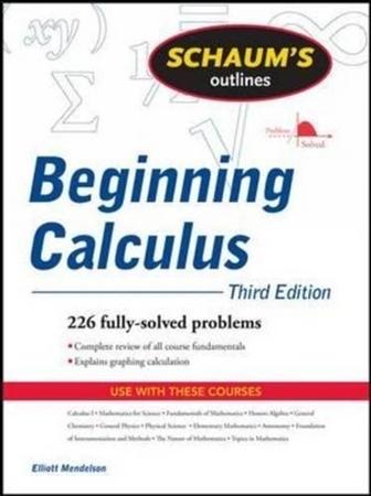 Resim Schaum's Outline of Beginning Calculus 3e