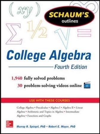 Resim Schaum's Outline of College Algebra 4e