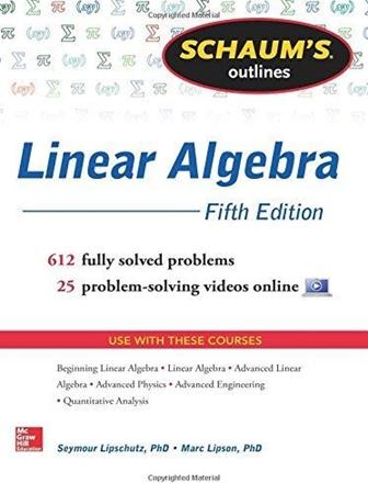 Resim Schaum's Outline of Linear Algebra 5e