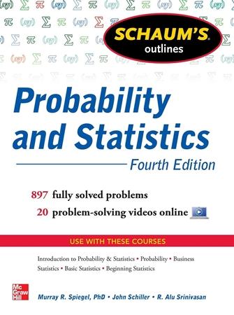 Resim Schaum's Outline of Probability and Statistics 4e