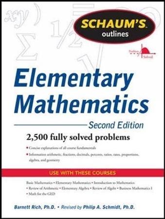 Resim Schaum's Outline of Review of Elementary Mathematics 2e