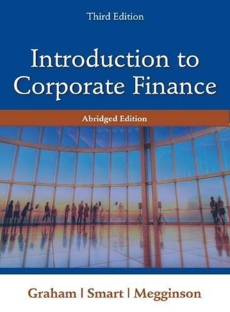 Resim Introduction to Corporate Finance 3e