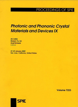 Resim Photonic and Phononic Crystal Materials and Devices IX