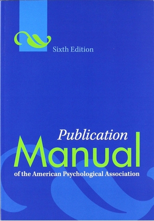 Resim Publication Manual of the American Psychological Association 6e