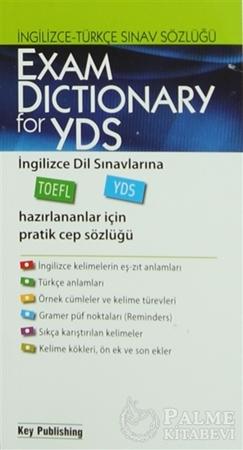 Resim Exam Dictionary For YDS (İngilizce - Türkçe Sınav Sözlüğü)