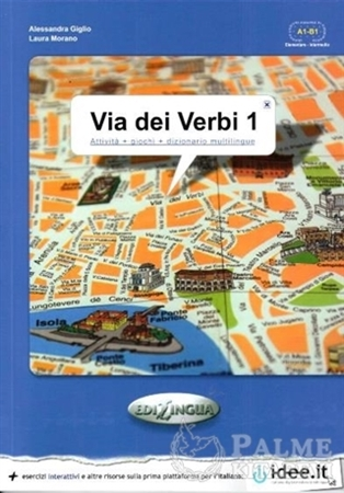Resim Via dei Verbi 1 A1-B1 (Attivita + giochi + dizionario multilingue)