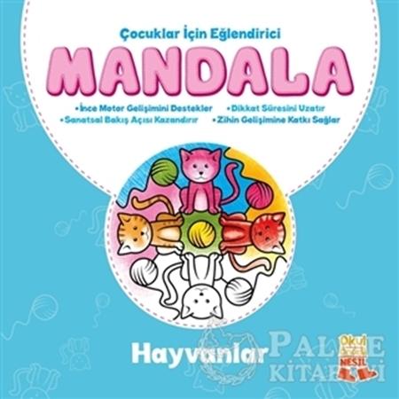 Resim Çocuklar İçin Eğlendirici Mandala: Hayvanlar