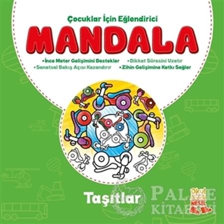 Resim Çocuklar İçin Eğlendirici Mandala: Taşıtlar