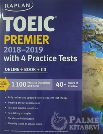 Resim TOEIC Premier 2018-2019 With 4 Practice Tests