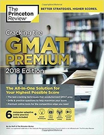 Resim Cracking the GMAT Premium Edition  2018