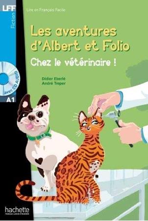 Resim Albert Et Folio - Chez Le Veterinaire + CD Audio MP3