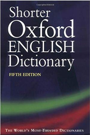 Resim Shorter Oxford English Dictionary 5e
