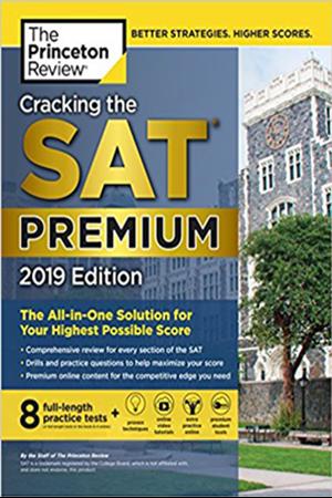 Resim Cracking the SAT Premium 8 Practice Tests 2019 Edition