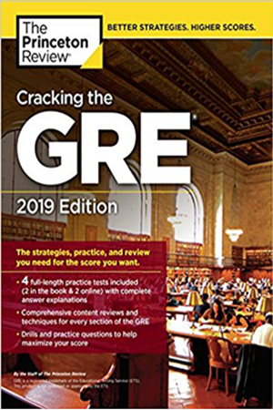 Resim Cracking the GRE with 4 Practice Tests 2019 Edition
