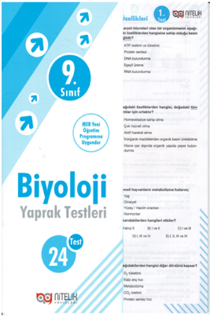 Resim 9. Sınıf Biyoloji Yaprak Testleri