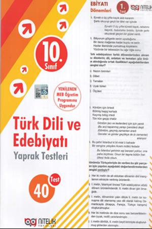 Resim 10. Sınıf Türk Dili ve Edebiyatı Yaprak Testleri