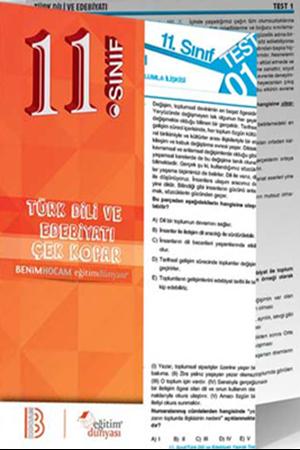 Resim 11. Sınıf Türk Dili ve Edebiyatı Çek Kopar Yaprak Test
