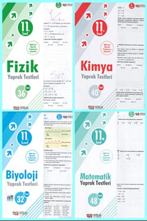 Resim 11. Sınıf Fizik - Kimya - Biyoloji - Matematik Yaprak Test Seti