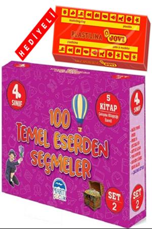 Resim 4. Sınıf 100 Temel Eserden Seçmeler - Set 2 + Oyun Hamuru Hediyeli