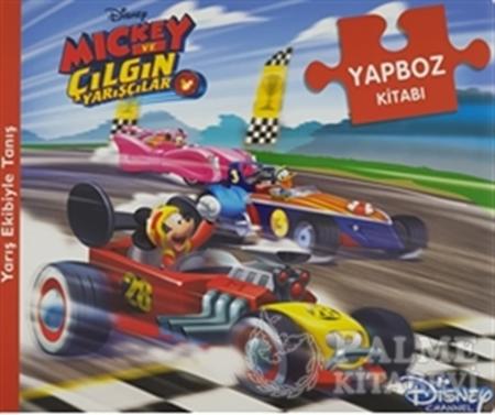 Resim Disney Mickey ve Çılgın Yarışçılar - Yapboz Kitabı