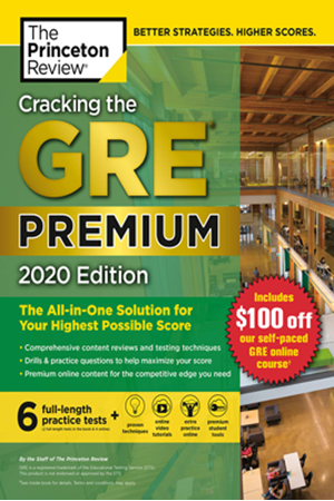 Resim Cracking the GRE Premium 2020 Edition with 6 Practice Tests