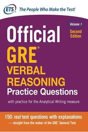 Resim Official GRE Verbal Reasoning Practice Questions Vol 1 2e