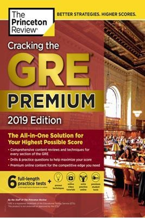 Resim Cracking the GRE Premium with 6 Practice Tests 2019