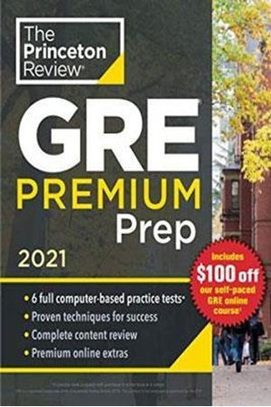 Resim Princeton Review GRE Premium Prep 2021 : 6 Practice Tests + Review and Techniques + Online Tools