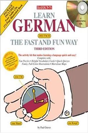 Resim Barron's Learn German the Fast and Fun Way 3e