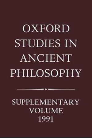 Resim Oxford Studies in Ancient Philosophy Supplementary Volume 1991