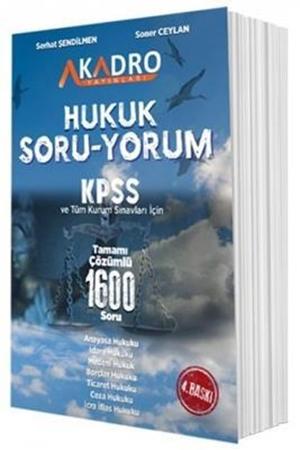 Resim KPSS A Grubu Hukuk Soru Yorum 1600 Soru Bankası Çözümlü 4. Baskı