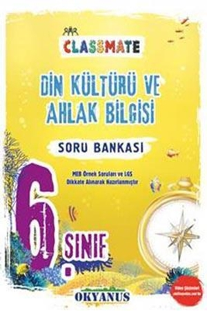 Resim 6. Sınıf Din Kültürü ve Ahlak Bilgisi Classmate Soru Bankası