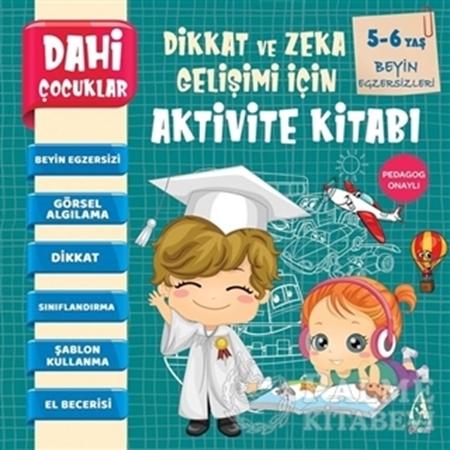 Resim Beyin Egzersizleri - Dahi Çocuklar Dikkat ve Zeka Gelişimi İçin Aktivite Kitabı