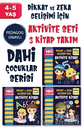 Resim Dahi Çocuklar Serisi Aktivite Seti 4-5 Yaş – (3 Kitap Takım)