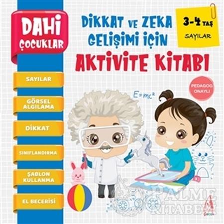 Resim Sayılar - Dahi Çocuklar Dikkat ve Zeka Gelişimi İçin Aktivite Kitabı