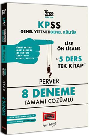 Resim 2022 KPSS GY GK Lise Ön Lisans 5 Ders Tek Kitap Perver Tamamı Çözümlü 8 Deneme