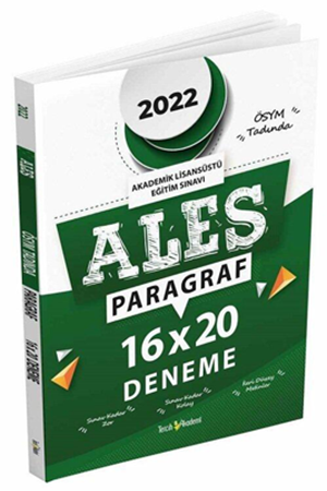 Resim 2022 ALES Paragraf Sözel Yetenek 16x20 Deneme