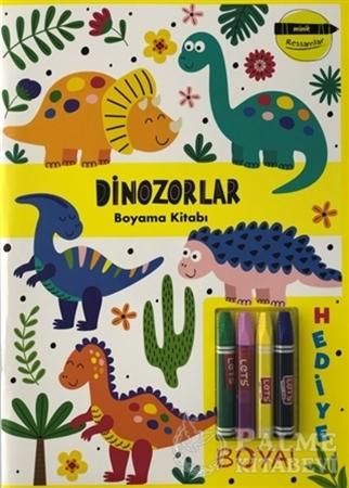 Resim Dinozorlar Boyama Kitabı - Minik Ressamlar