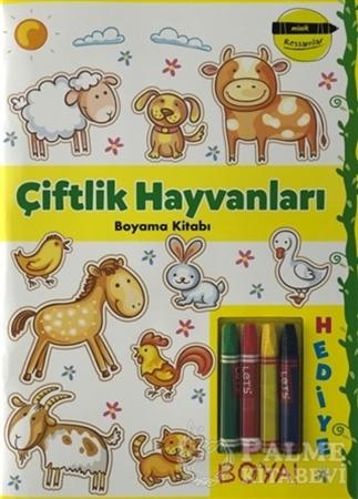 Resim Çiftlik Hayvanları Boyama Kitabı - Minik Ressamlar