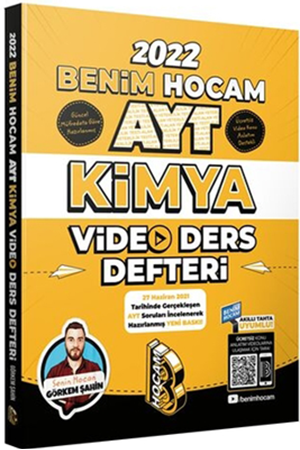 Resim AYT Kimya Video Ders Defteri 2022