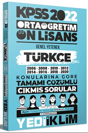 Resim 2022 KPSS Ortaöğretim Ön Lisans Genel Yetenek Türkçe Konularına Göre Tamamı Çözümlü Çıkmış Sorular
