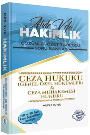Resim Ahde Vefa Hakimlik Ceza Genel ve Özel Hükümler, CMH Soru Bankası