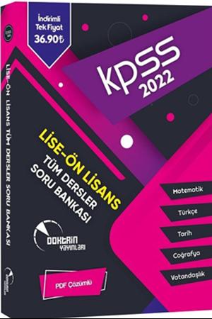 Resim 2022 KPSS Lise Ön Lisans Tüm Dersler Tek Kitap Soru Bankası