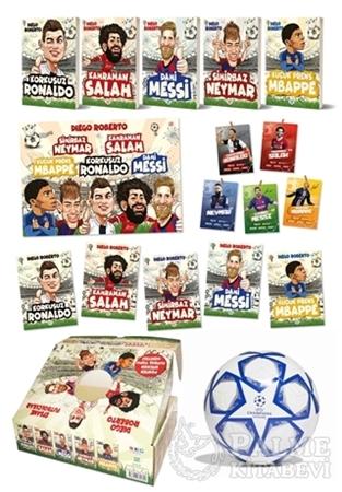 Resim Efsane Futbolcular Kutulu Set (5 Kitap Takım - Futbol Topu Hediyeli)