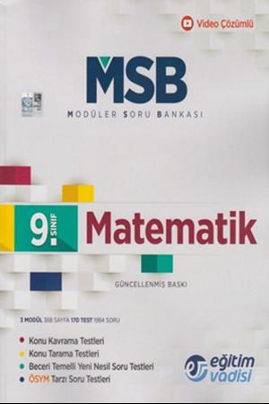 Resim 9. Sınıf Matematik Güncel MSB Modüler Soru Bankası