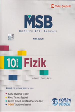 Resim 10. Sınıf Fizik Güncel MSB Modüler Soru Bankası