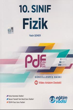 Resim 10. Sınıf Fizik Güncel PDF Planlı Ders Föyü